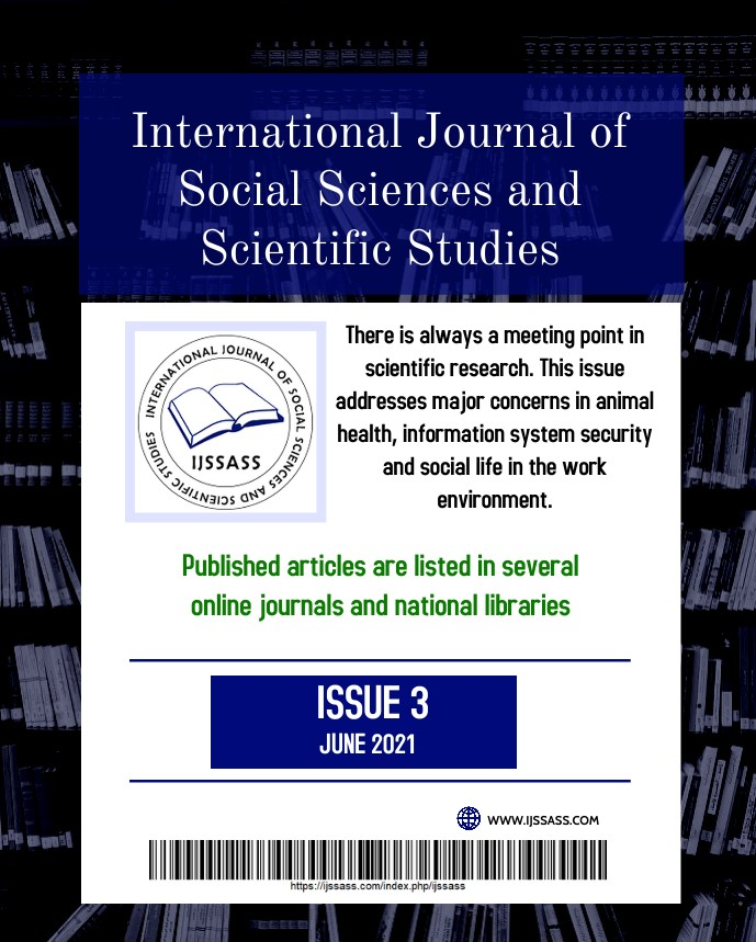 View Vol. 1 No. 3 (2021): The work environment, information system security, and animal health